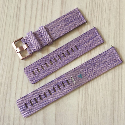 $ CDN23.92 • Buy Original Fitbit Versa Woven Wristband Band Small Large Lavender Charcoal