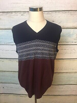 $28.90 • Buy BROOKS BROTHERS~346 V-Neck Vest Sweater Large 100% Lambs Wool Xmas Color