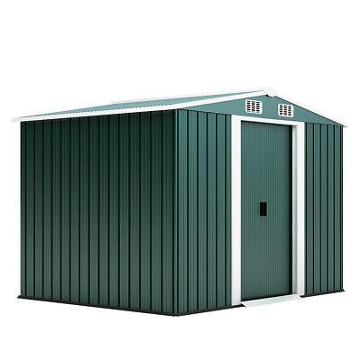 £155 • Buy 8x 6FT Apex Heavy-Duty Metal Garden Shed Large Outdoor Storage Organizer Tools