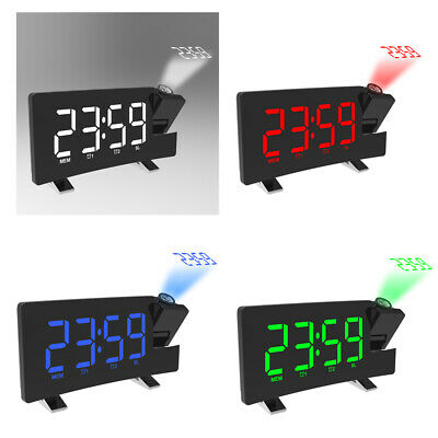£16.92 • Buy LCD Digital LED Projector Projection FM Radio Snooze Alarm Clock Dimmer