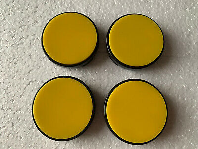 £22.99 • Buy 54.5mm St Alloy Wheel Centre Caps Fits Ford Focus 2009-2011 Yellow Gloss Base