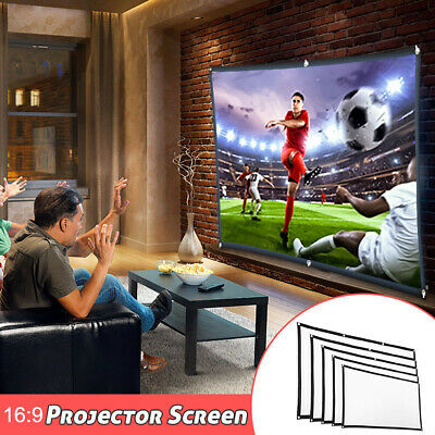 AU19.88 • Buy 60/72/84/100/120 Inch Projector Screen Foldable Home Theater Outdoor Movies AU
