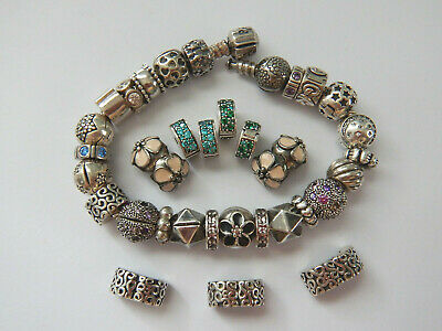 AU32 • Buy Choice Of GENUINE PANDORA S/Silver CLIPS & SPACERS. Most Retired