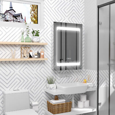 £149.99 • Buy Bathroom LED Lighted Mirror Cabinet Wall-mount With Storage Shelves Touch Switch