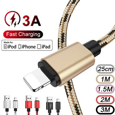 AU9.99 • Buy USB Charger Data Cable For IPhone 7 8 6 Plus 5 11 12 SE X XR XS Fast Charge Cord