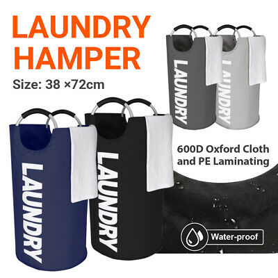 £8.99 • Buy Laundry Hamper Bag Foldable Fabric Collapsible Clothes Bag Washing Bin Baskets