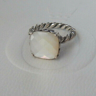 AU40 • Buy Authentic PANDORA S/S ELEGANT SINCERITY Mother Of Pearl Ring. Size 50. #190828MP