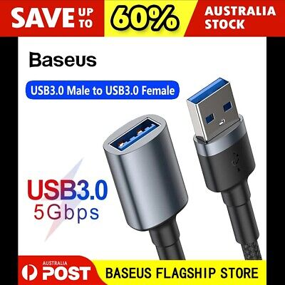 AU11.95 • Buy Baseus USB 3.0 Male To Female Data Cable Extension Cord For Laptop PC Camera 1m