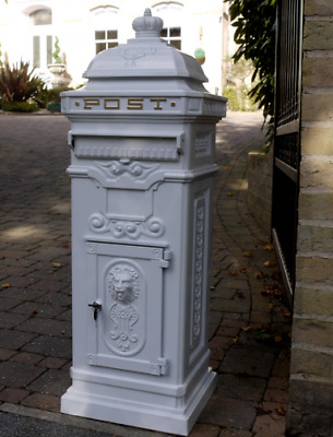$264.15 • Buy White Mail Box Vintage Style Aluminium Heavy Duty Metal Letters Post Stand New