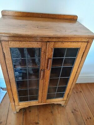£30 • Buy Small Display Cabinet/bookcase With Leaded Glass Doors...used