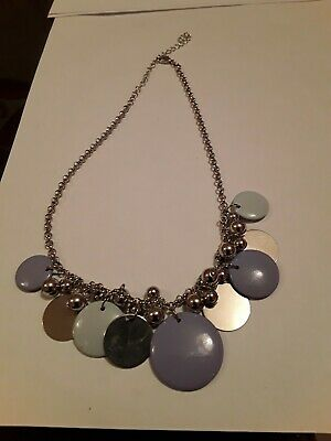 £0.99 • Buy Striking Retro Silver Tone Chain & Graduated Ball & Discs Necklace. Some...