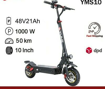$ CDN1505.03 • Buy 48V Electric Scooter 1000W 10 Inch Electric Scooter For Adults Foldable 2 Wheel