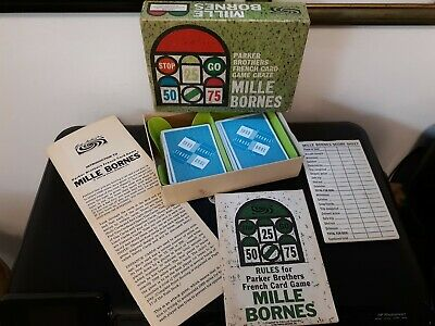 $14.99 • Buy Vintage 1962 Mille Bornes French Road Race Card Game By Parker Brothers Complete