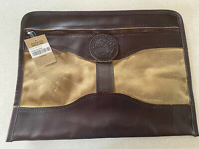 $80 • Buy NWT Duluth Pack Khaki Waxed Document Briefcase