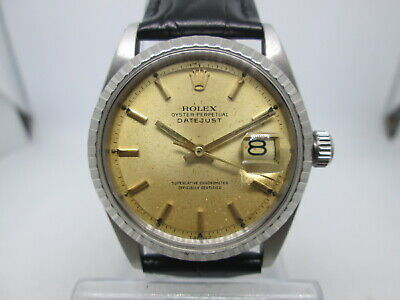 $ CDN604.25 • Buy Vintage Rolex  Oyster Perpetual Datejust 1601/1570 Stainless Steel Mens Watch