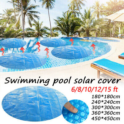 £7.99 • Buy New 4/6/8FT Home Garden Round Swimming Family Solar Pool Retain Heat Covers
