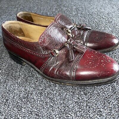 £17.25 • Buy Moreschi Red Leather Men's Dress Shoes Size 8.5 Made In Italy 31181