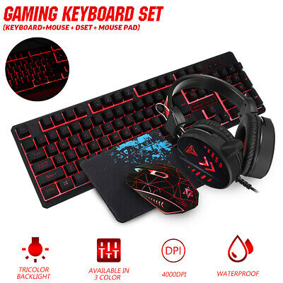 AU28.19 • Buy Gaming Keyboard Mechanical Keyboard And Wired Mouse Headset Three-piec