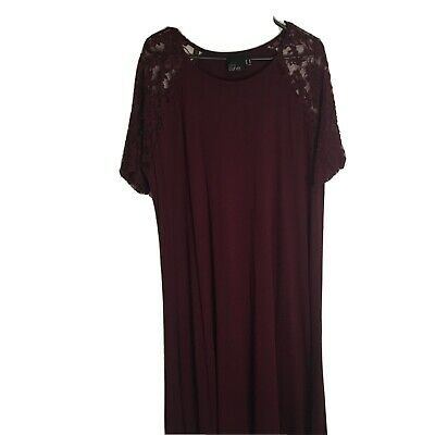 AU28 • Buy ASOS Curve: Size US 18 UK 22 Dress With Lace Sleeves VGC FREE POSTAGE