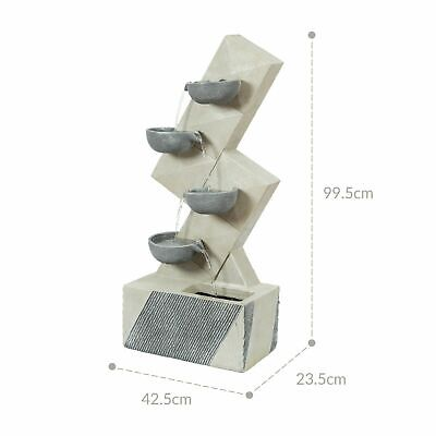 £149.99 • Buy GardenKraft Outdoor Fountains  4 Separate Cascading Water Features