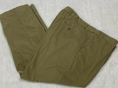 $15.99 • Buy Lands End Traditional Fit  Mens Corduroy Pants Tan Thin Wale Flat Front W44 L28