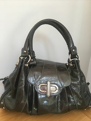 £19.99 • Buy Gorgeous Russell & Bromley Patent Leather Tote Bag Handbag Green Excellent Cond