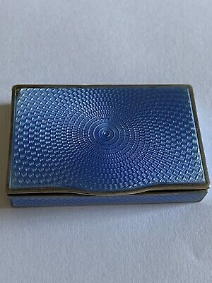 £205 • Buy Charming Solid Silver Blue  Guilloche Enamel Decorated Hinged Pill Box ASPREY ?