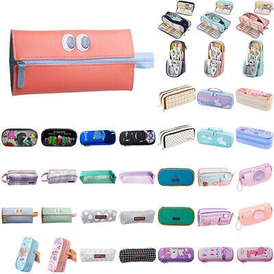 £2.84 • Buy Kid Students Large Capacity Colorful Pencil Case Bag Zipper Stationery Pen Pouch