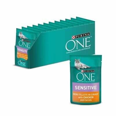 £19.04 • Buy  Purina ONE Sensitive Wet Cat Food Digestive System Chicken And Carrots 24 X 85g