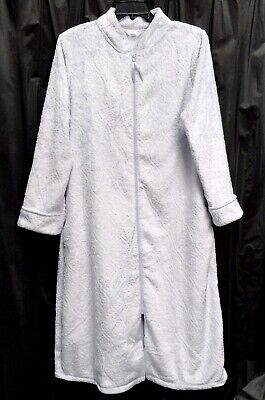 £18.08 • Buy Pale Lilac Textured Chenille Zip-front Nightgown Robe W/pockets~3x~22w-24w~2x*