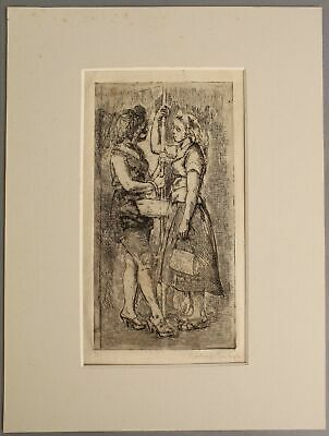 £43.87 • Buy Sm Signed ISABEL BISHOP Scocial Realist Etching, Women In New York Subway NR