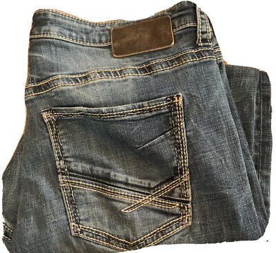 $24.95 • Buy Mens BKE Buckle Nolan Straight Jeans 36S 36x28 Med Wash Distressed GUC