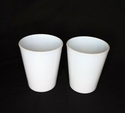$16.99 • Buy 2 Vintage Milk White Opaque Glass Tumblers Glasses Cups