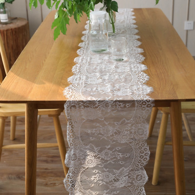 AU13.67 • Buy Lace Embroidery Dining Table Runner Tablecloth Vintage Wedding Party Decor Craft