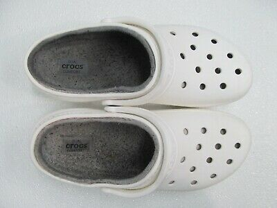 $14.99 • Buy Crocs Classic Lined Clog White/Gray Ankle Strap Sandal Size Mens 11