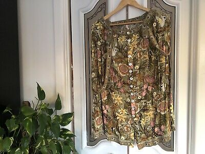 AU205.50 • Buy Spell & The Gypsy Collective Ladies Jungle Pinafore Dress Skirt Size L Rayon