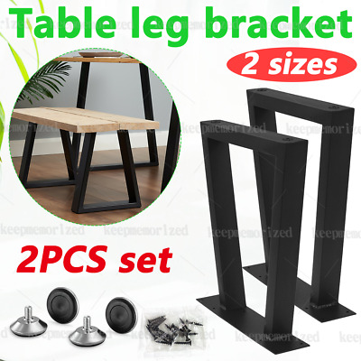 £36.99 • Buy 2PCS Industrial Table Legs Steel Metal Trapezium For Dining/Bench/Office/Desk UK