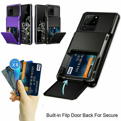AU9.99 • Buy For Samsung Galaxy S21 5G S20 FE 5G Wallet Card Slot Holder Armor Case Cover