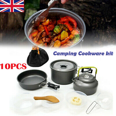 £21.99 • Buy Cook Set Portable Camping Cookware Kit Outdoor Picnic Hiking Cooking Equipment.