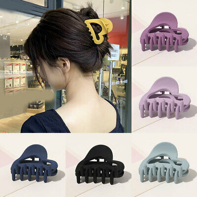 AU3.72 • Buy Women Love Hollow Hair Claw Clips Acrylic Frosted Barrette Lady Hair Accessories