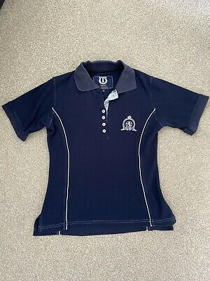 £8 • Buy Ladies Tagg Equestrian Smart Blue Fitted Polo Horse Riding T Shirt Size Small