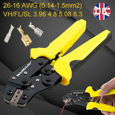 £8.99 • Buy Cable Crimper  Electrical Ferrule Ratchet Wire Plier Crimping Tool Wire Crimper