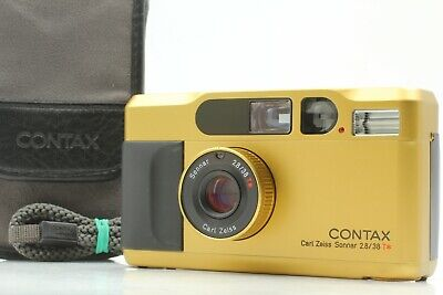 $ CDN1825.32 • Buy 【TOP MINT In Case】 Contax T2 Titan Gold 35mm Point Shoot Film Camera From JAPAN