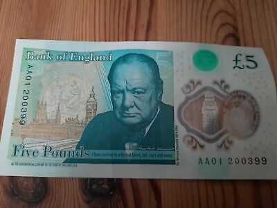 £10 • Buy Aa01 Five Pound Note