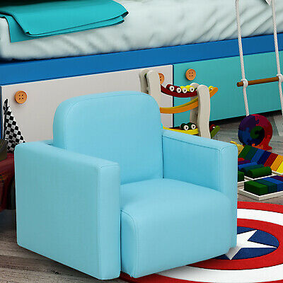 £19.99 • Buy Blue 3-in-1 Kids Activity Table Mini Sofa Set Padded Chair Armchair Boys Toddler