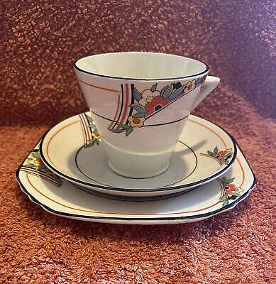 £25 • Buy Thomas Forester Phoenix Ware Tea Trio Art Deco Teacup Saucer And Side Plate