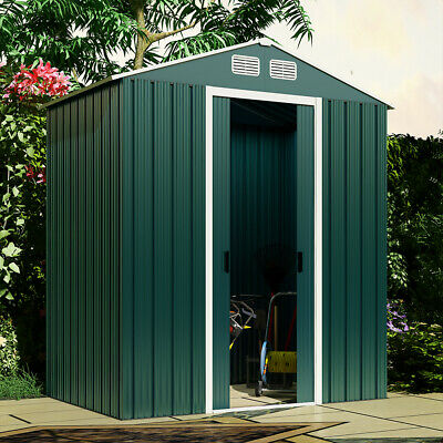 £32 • Buy 6x4ft Metal Garden Storage Shed Lockable Patio Tool Kit Free Foundation Outdoor