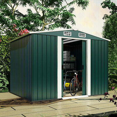 £49 • Buy 8x4ft Metal Garden Storage Shed Lockable Patio Tool Kit Free Foundation Outdoor