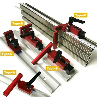 £33.08 • Buy Aluminium Alloy Woodworking Tool T Slot Fence Stop Height Miter Track Brackets