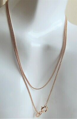 £4.99 • Buy 18 CARAT ROSE GOLD PLATED STERLING SILVER CURB NECKLACE CHAIN 46cm /18  NEW QVC